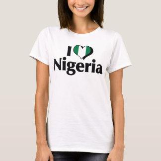 I Love Nigeria Flag Shirt