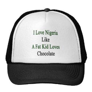 I Love Nigeria Like A Fat Kid Loves Chocolate Cap