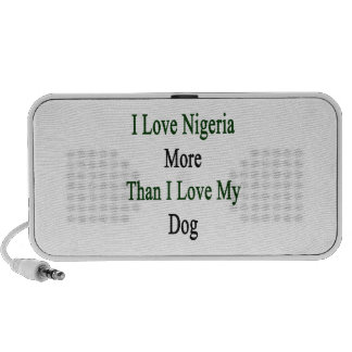I Love Nigeria More Than I Love My Dog Portable Speakers