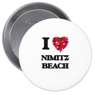 I love Nimitz Beach Guam 10 Cm Round Badge