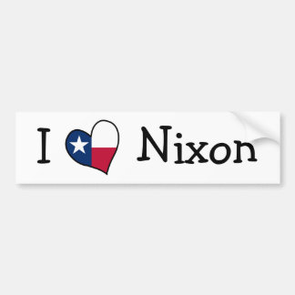 I Love Nixon Bumper Sticker