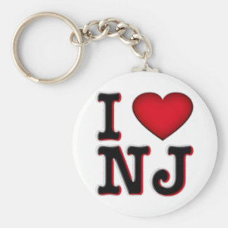 I Love NJ Apparel Merchandise Key Chain