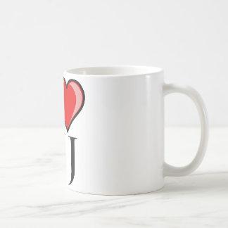 I Love NJ - New Jersey Basic White Mug