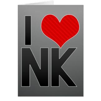 I Love NK Card