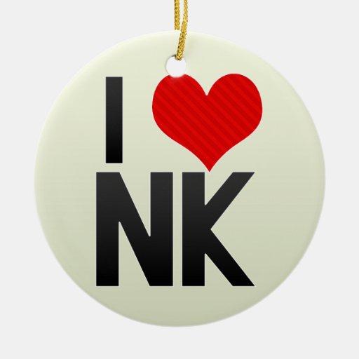 I Love NK Christmas Ornament