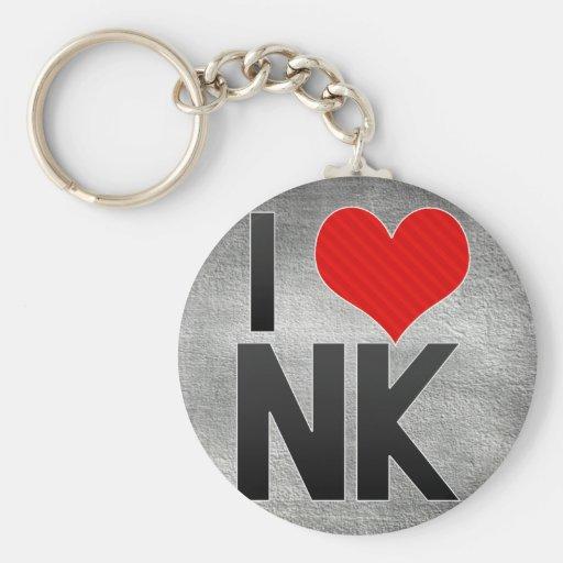 I Love NK Keychains