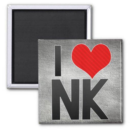 I Love NK Fridge Magnet