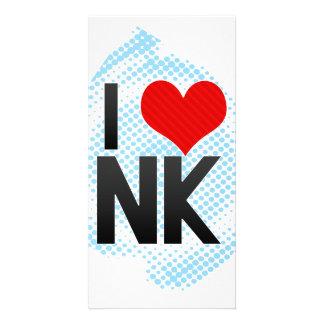 I Love NK Custom Photo Card