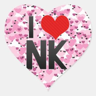 I Love NK Sticker