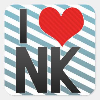 I Love NK Square Sticker