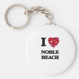 I love Noble Beach Ohio Basic Round Button Key Ring