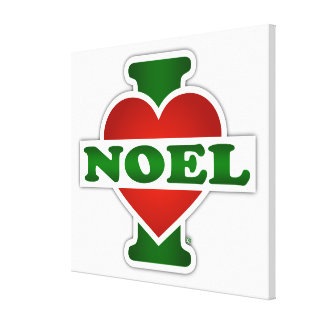 I Love Noel Stretched Canvas Print