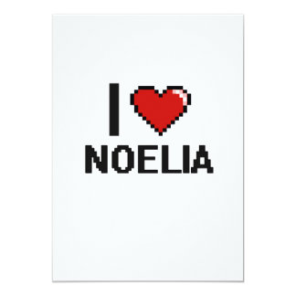"I Love Noelia Digital Retro Design 5"" X 7"" Invitation Card"