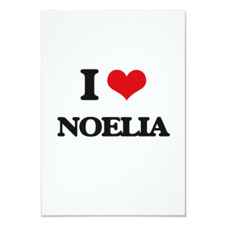 "I Love Noelia 3.5"" X 5"" Invitation Card"