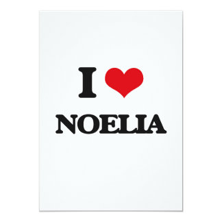 I Love Noelia 13 Cm X 18 Cm Invitation Card