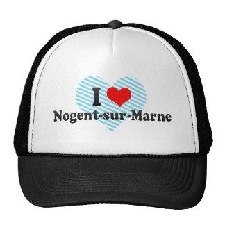 I Love Nogent-sur-Marne France Trucker Hats