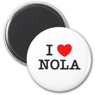 I Love Nola 6 Cm Round Magnet