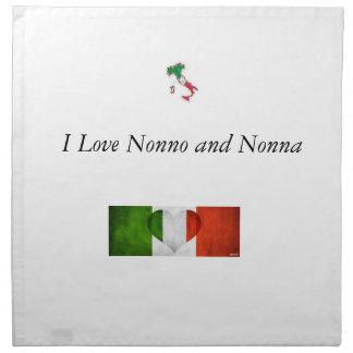 I Love Nonno and Nonna Napkins
