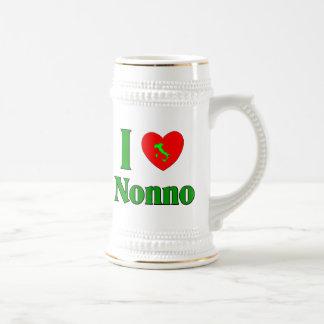 I Love Nonno (Italian Grandfather) Beer Stein