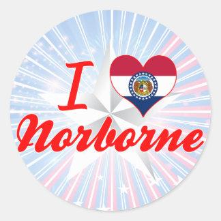 I Love Norborne, Missouri Round Sticker