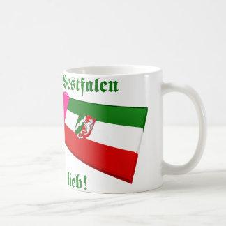 I Love Nordrhein-Westfalen ist mir lieb Basic White Mug