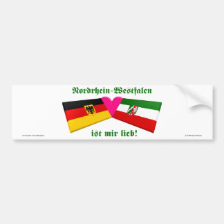 I Love Nordrhein-Westfalen ist mir lieb Bumper Sticker