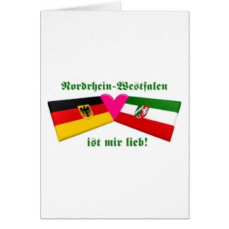 I Love Nordrhein-Westfalen ist mir lieb Greeting Cards