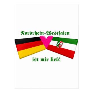 I Love Nordrhein-Westfalen ist mir lieb Postcard