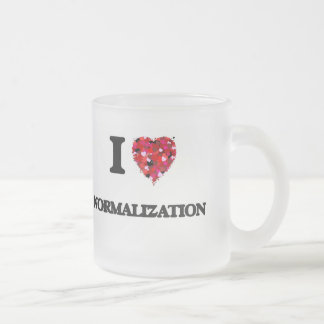 I Love Normalization Frosted Glass Mug