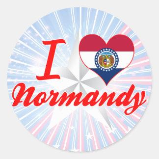 I Love Normandy, Missouri Stickers