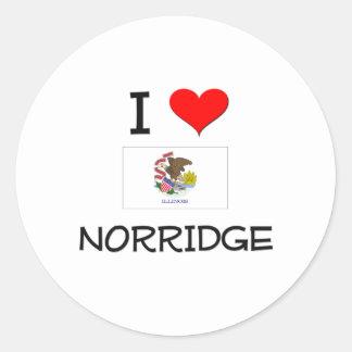 I Love NORRIDGE Illinois Sticker