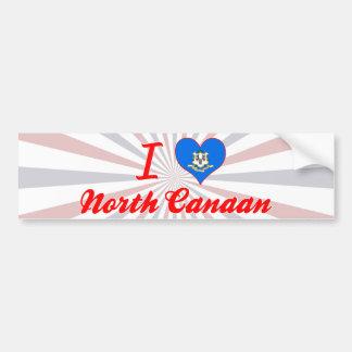 I Love North Canaan, Connecticut Bumper Sticker