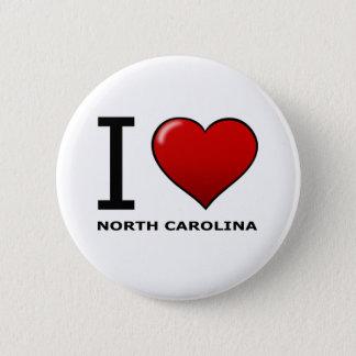 I LOVE NORTH CAROLINA 6 CM ROUND BADGE