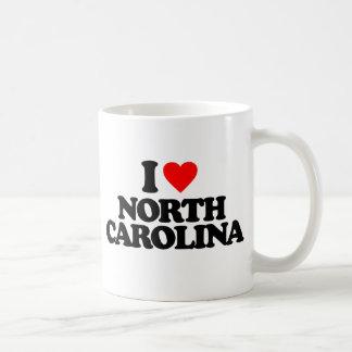 I LOVE NORTH CAROLINA COFFEE MUG