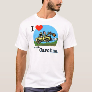 I Love North Carolina Country Taxi T-Shirt