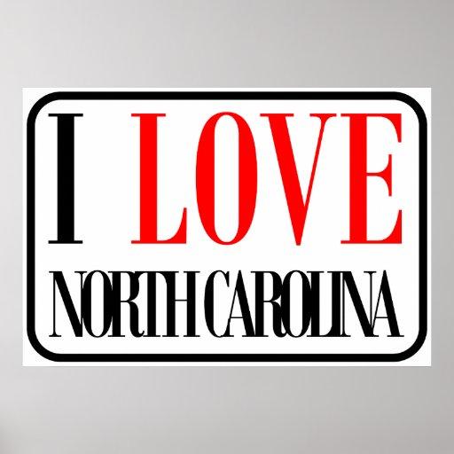 I Love North Carolina Design