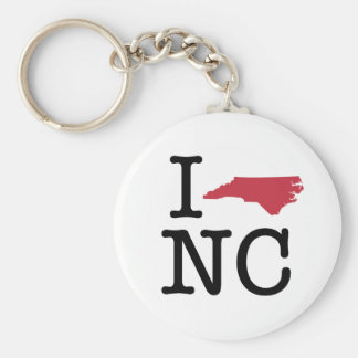 I Love North Carolina Key Ring