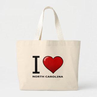 I LOVE NORTH CAROLINA LARGE TOTE BAG