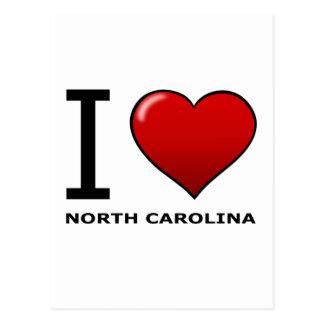 I LOVE NORTH CAROLINA POSTCARD