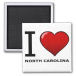 I LOVE NORTH CAROLINA SQUARE MAGNET