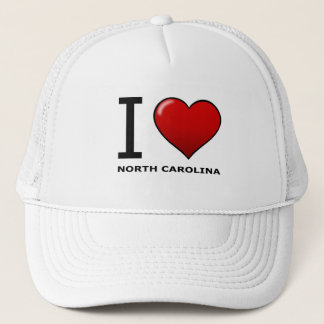 I LOVE NORTH CAROLINA TRUCKER HAT