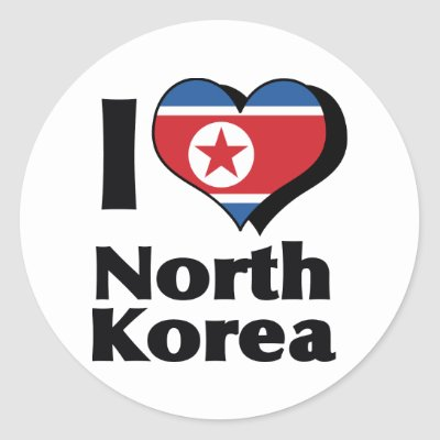 Flag of north korea sticker zazzle co uk