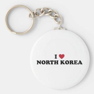 I Love North Korea Key Ring