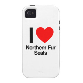 i love northern fur seals iPhone 4/4S cases