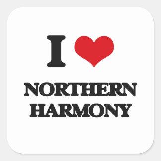 I Love NORTHERN HARMONY Square Sticker
