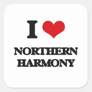 I Love NORTHERN HARMONY Square Stickers