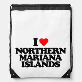 I LOVE NORTHERN MARIANA ISLANDS BACKPACKS