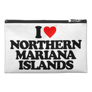 I LOVE NORTHERN MARIANA ISLANDS TRAVEL ACCESSORY BAG