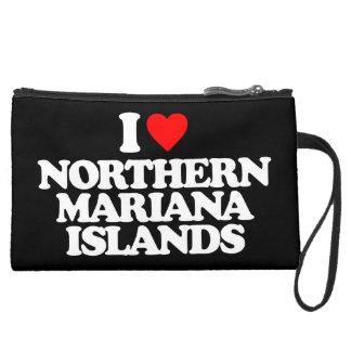 I LOVE NORTHERN MARIANA ISLANDS WRISTLET PURSE