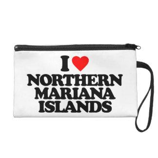 I LOVE NORTHERN MARIANA ISLANDS WRISTLET PURSES